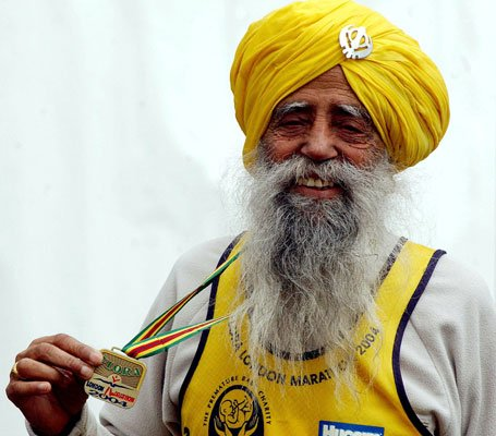 Fauja Singh is the world's oldest marathon runner