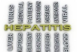 3d image Hepatitis medical concept word cloud background