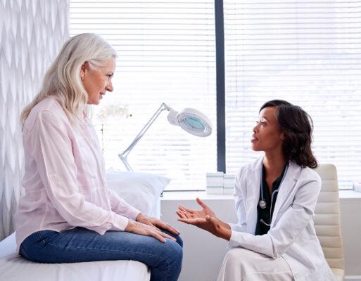 Patients member benefits women talking