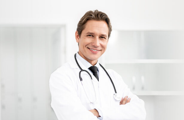 Doctor with a smile